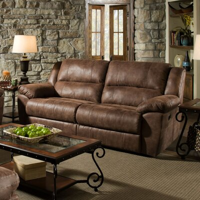 Umberger Contemporary Double Motion Reclining Sofa by Simmons Upholstery
