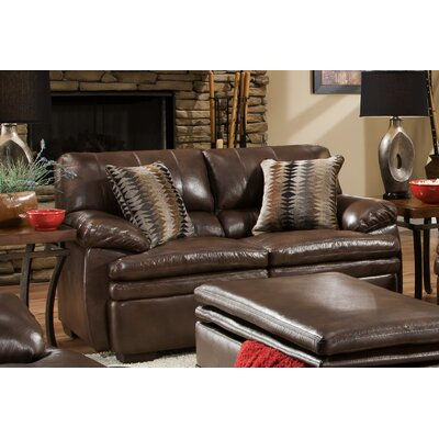 9545-02 Edior Brown UFI2793 Simmons Upholstery Editor Loveseat