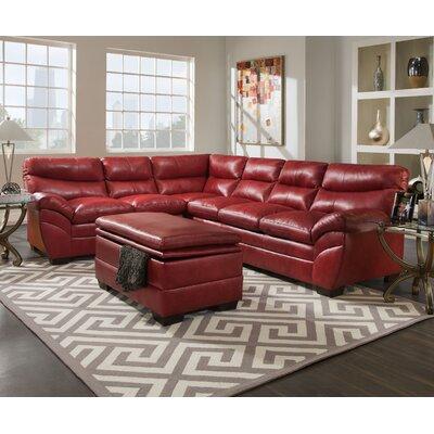 Simmons Upholstery 9515-03R Soho Espresso / 9515-03R Soho Cardinal Soho Sectional