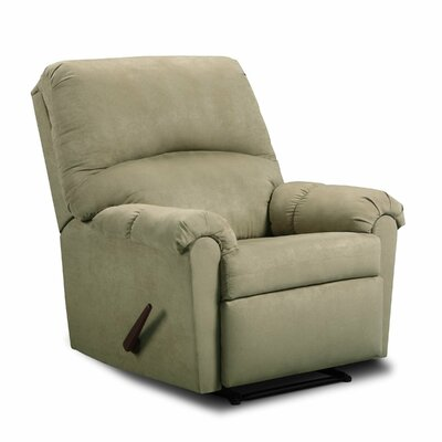 Victory Lane Rocker Recliner Upholstery: Sage Green