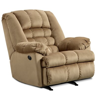 Malibu Power Rocker Recliner Upholstery: Mink
