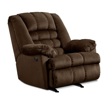Cabela Power Rocker Recliner by Simmons Upholstery Upholstery: Beluga