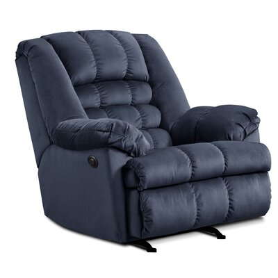Cabela Power Rocker Recliner by Simmons Upholstery Upholstery: Blue