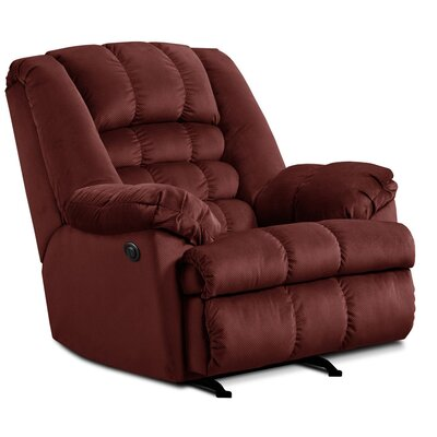 Malibu Power Rocker Recliner Upholstery: Wine