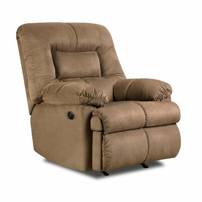 Velocity Power Rocker Recliner Upholstery: Latte
