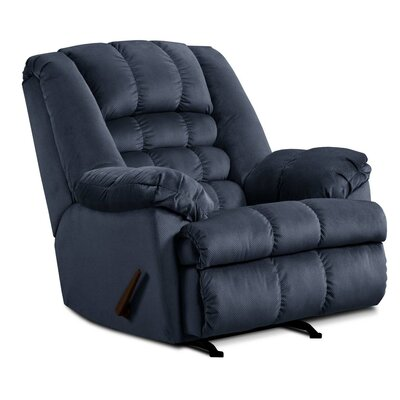 Cabela Manual Rocker Recliner by Simmons Upholstery Upholstery: Blue