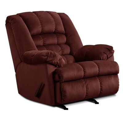 Cabela Manual Rocker Recliner by Simmons Upholstery Upholstery: Wine