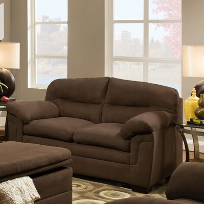 3615-02 Luna Chocolate UFI2877 Simmons Upholstery Luna Loveseat