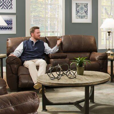 Bosquet Motion Console Reclining Sofa by Simmons Upholstery Type: Power