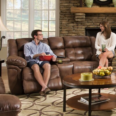 Wisconsin Beautyrest Motion Console Reclining Sofa Type: Manual