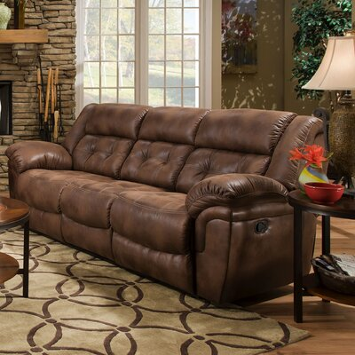 50340BR-53 Wisconsin Chocolate UFI2898 Simmons Upholstery Wisconsin Beautyrest Motion Sofa