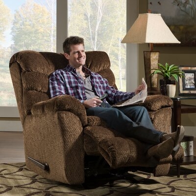 Camella Heat and Massage Rocker Recliner by Simmons Upholstery Upholstery: Chocolate