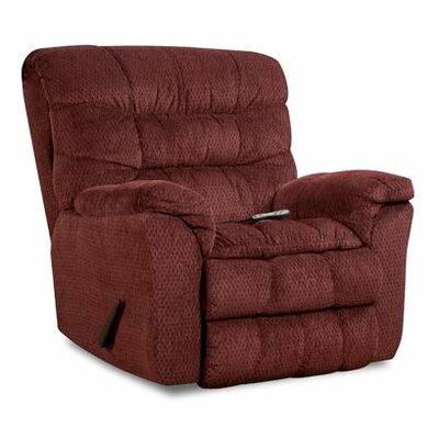 Aegean Heat and Massage Rocker Recliner Upholstery: Wine