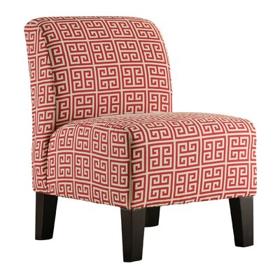 Orizaba Slipper Chair by Simmons Upholstery Upholstery: Red