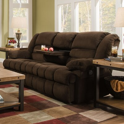 50412BR-62 Dynasty Chocolate UFI3024 Simmons Upholstery Dynasty Double Motion Sofa