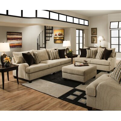 Simmons Upholstery 8520-03 Trinidad Taupe Trinidad Living Room Collection