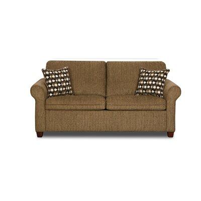 1630-024 Cullen Pecan UFI2694 Simmons Upholstery Cullen Twin Sleeper Sofa