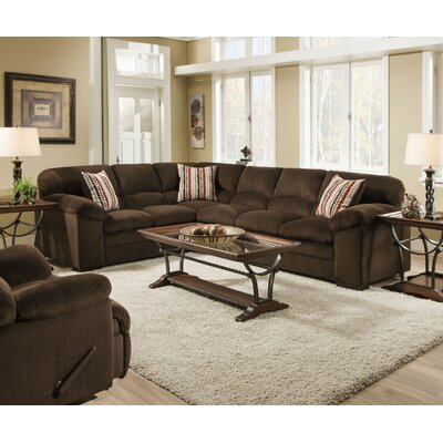 Simmons Upholstery 8043-03LB Dover Coffee Dover Sectional