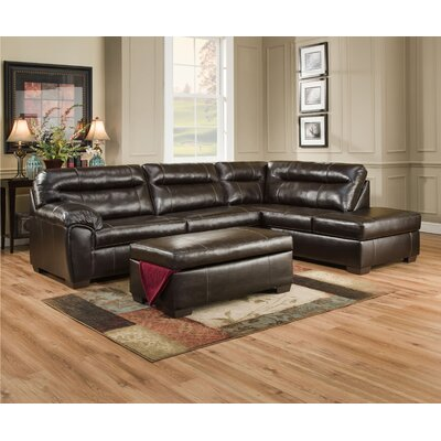1626-03L Cisco Espresso Simmons Upholstery Sectionals