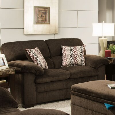 Simmons Upholstery 3684-02 Plato Chocolate Plato Loveseat