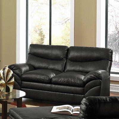 9515-02 Soho Onyx UFI3133 Simmons Upholstery Soho Bonded Leather Loveseat
