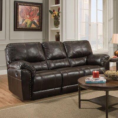 50961PBR-53 Abilene Chestnut UFI3157 Simmons Upholstery Abilene Motion Sofa