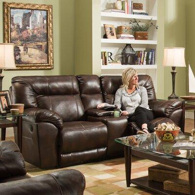 50571PBR-63 Abilene Tobacco UFI3151 Simmons Upholstery Abilene Motion Loveseat