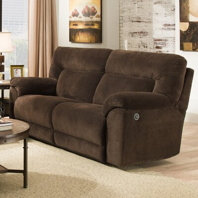 50570PBR-53 Madeline Chocolate UFI3147 Simmons Upholstery Madeline Motion Sofa