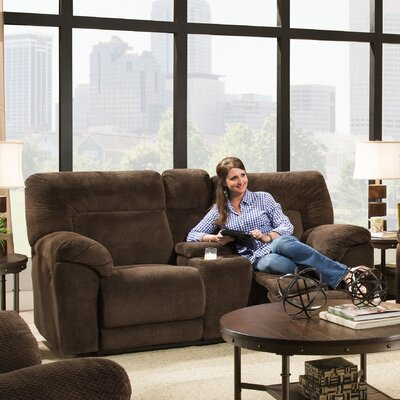 50570PBR-63 Madeline Chocolate UFI3148 Simmons Upholstery Madeline Motion Loveseat