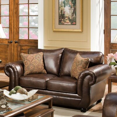 4280-02 Miracle Saddle UFI3199 Simmons Upholstery Miracle Loveseat