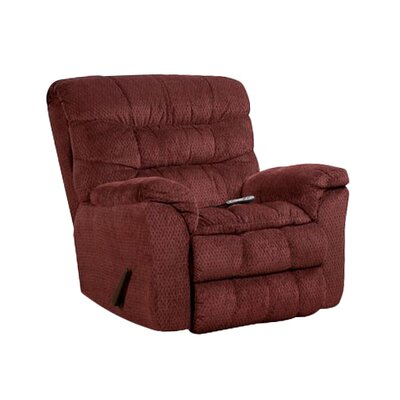 Camella Heat and Massage Rocker Recliner by Simmons Upholstery Upholstery: Wine