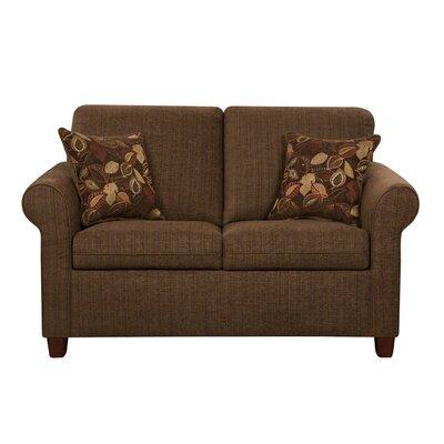 Cullen Loveseat Upholstery: Pecan