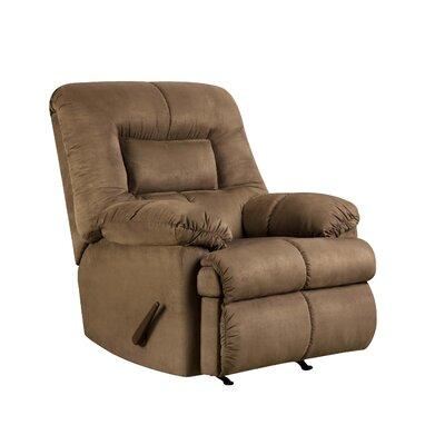 Velocity Rocker Recliner Upholstery: Latte