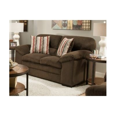 8043-02 Dover Coffee UFI3120 Simmons Upholstery Dover Loveseat