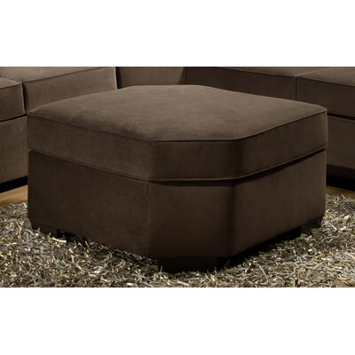 Scoville Wedge Ottoman by Simmons Upholstery Upholstery: Mocha