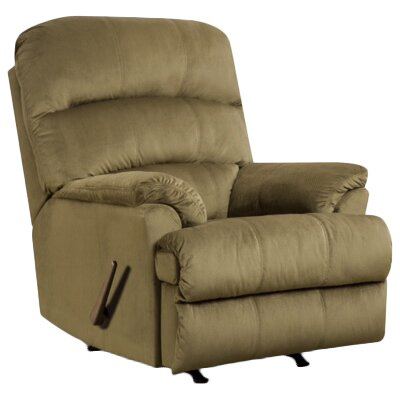 Camina Manual Rocker Recliner by Simmons Upholstery Upholstery: Army