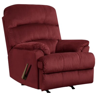 Camina Manual Rocker Recliner by Simmons Upholstery Upholstery: Merlot