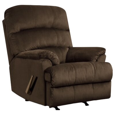 Camina Manual Rocker Recliner by Simmons Upholstery Upholstery: Umber