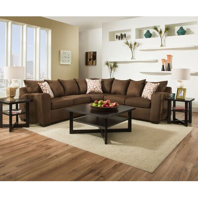 Simmons Upholstery 9073-55 Venture Smoke Venture Sectional