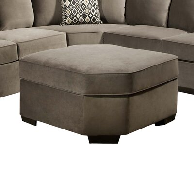 Scoville Wedge Ottoman by Simmons Upholstery Upholstery: Gunsmoke