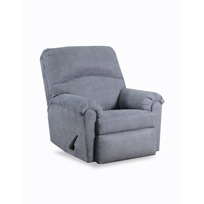 Simmons Henderson Manual Rocker Recliner Upholstery: Denim