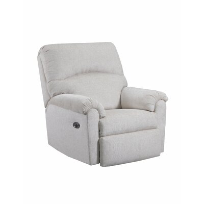 Helene Power Rocker Recliner by Simmons Upholstery Upholstery: Linen