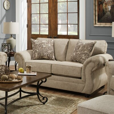 Darby Home Co DABY2849 Simmons Vicki Parchment Loveseat