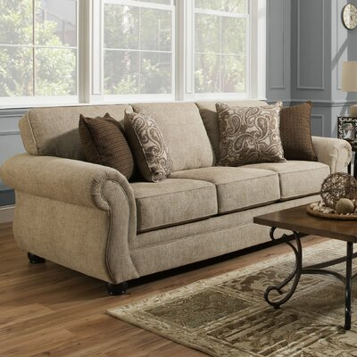 Darby Home Co DABY2846 Simmons Vicki Parchment Queen Sleeper Sofa