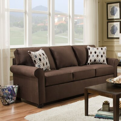 Rausch Modern Sofa by Simmons Upholstery Upholstery: Chocolate