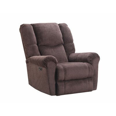 Deshawn Recliner by Simmons Upholstery Upholstery: Chocolate, Reclining Type: Power