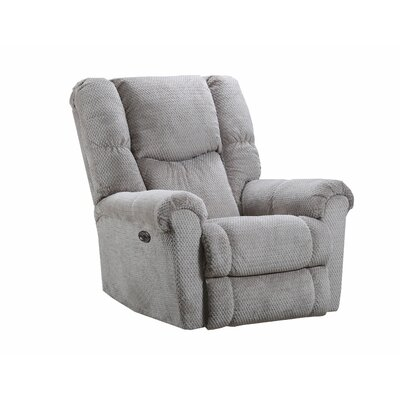 Deshawn Recliner by Simmons Upholstery Upholstery: Stone, Recliner Type: Power