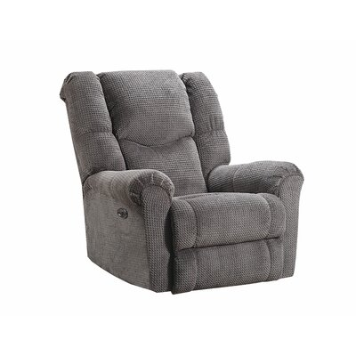 Deshawn Recliner by Simmons Upholstery Upholstery: Gray, Recliner Type: Power