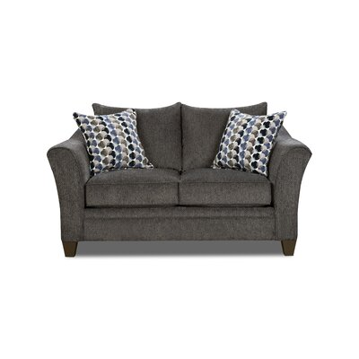 Degory Loveseat by Simmons Upholstery Upholstery: Gray
