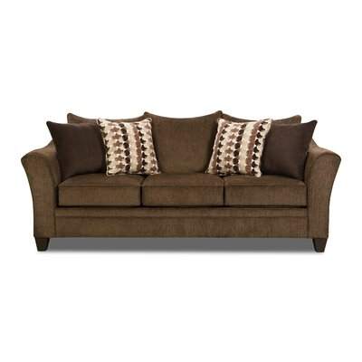 Degory Sofa by Simmons Upholstery Upholstery: Brown